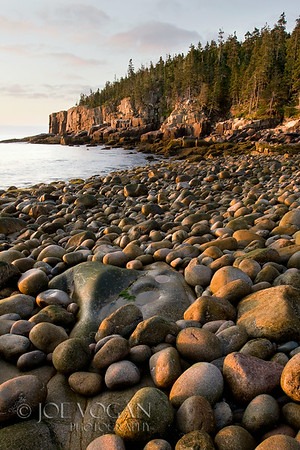 Sunrise at Boulder Beach near Otter Point, Acadia National Park, Mt. Desert Island, Maine