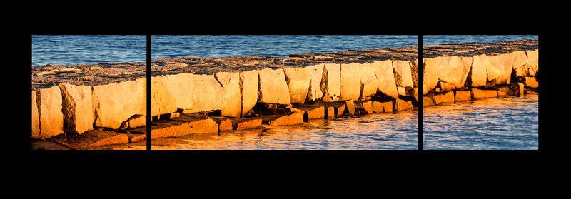 Pier in Maine, triptych