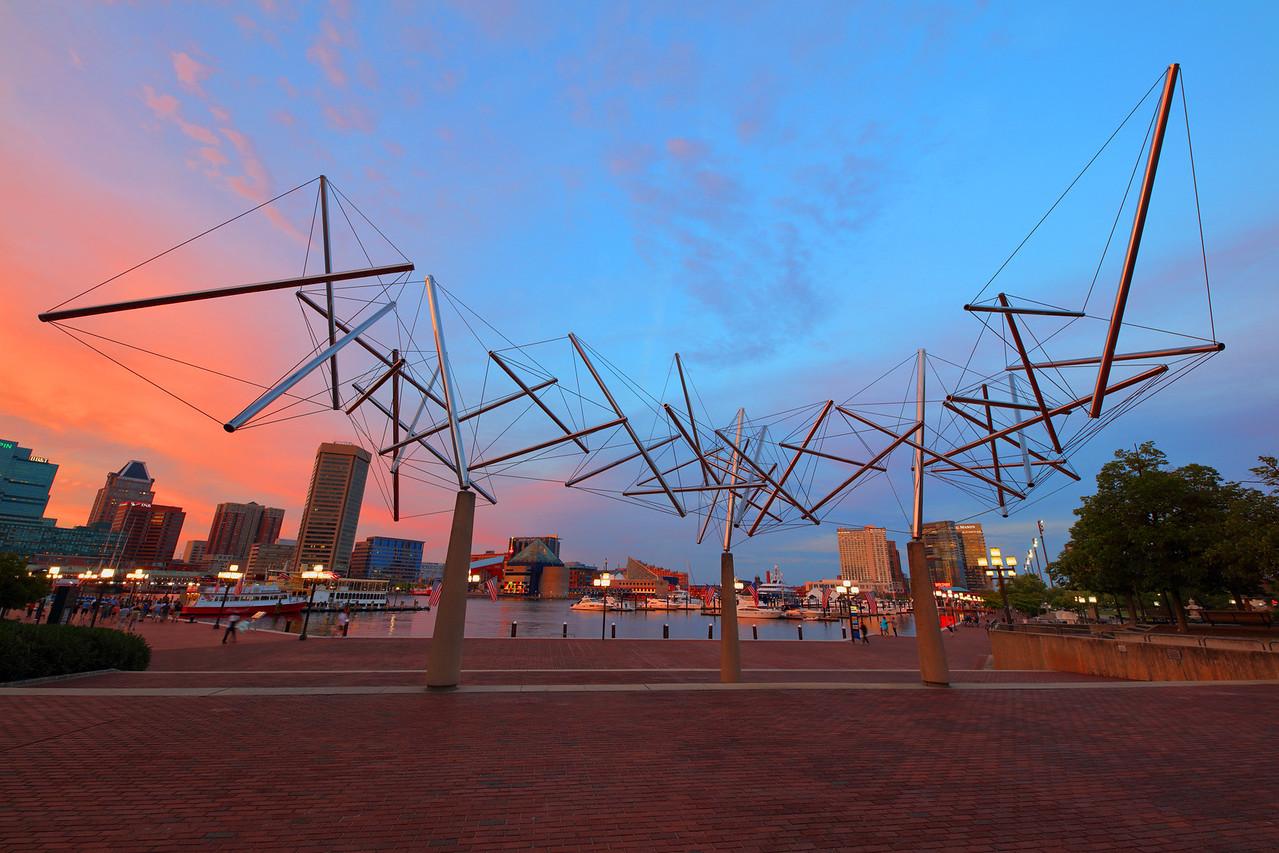 Art Sculpture at Maryland Science Center, Inner Harbor, Baltimore