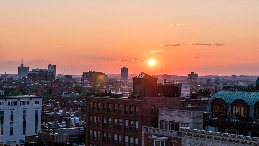 Summer sunset in Boston