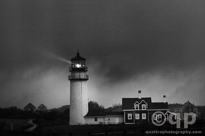 HIGHLAND LIGHTHOUSE BLACK AND WHITE