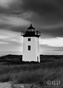 WOOD END LIGHTHOUSE BLACK AND WHITE