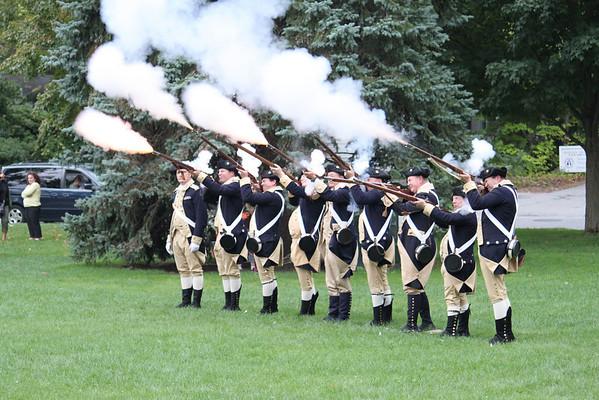 Minutemen Reenactors on Lexington Green