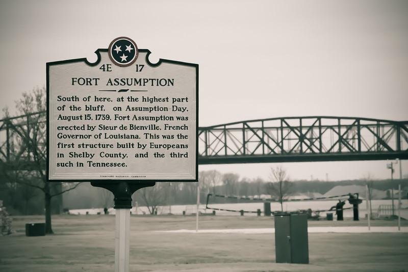 fort assumption downtown memphis riverfront
