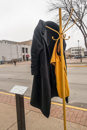 City artwork becomes a resource to leave clothes for those in need