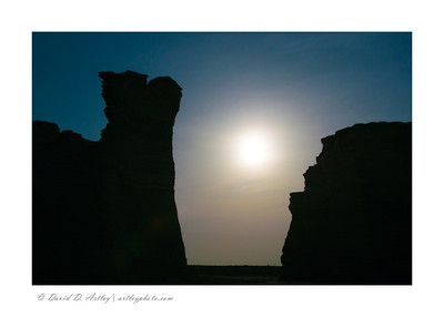 Moonlight Silhouette, Monument Rocks, KS