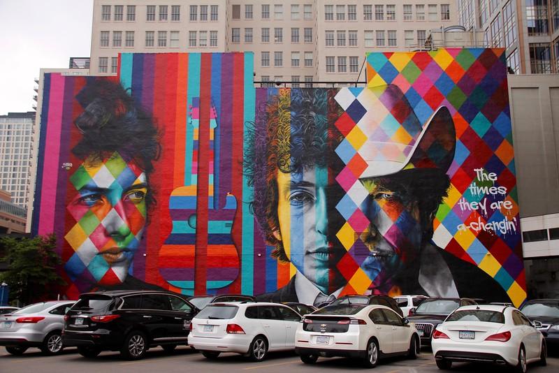 Mural of Bob Dylan