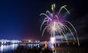 Fireworks over the Mississippi River from Rosalie farigrounds