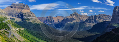 Going To The Sun Road Glacier National Park Panoramic Fine Art Photographers - 017426 - 01-09-2015 - 12920x4633 Pixel