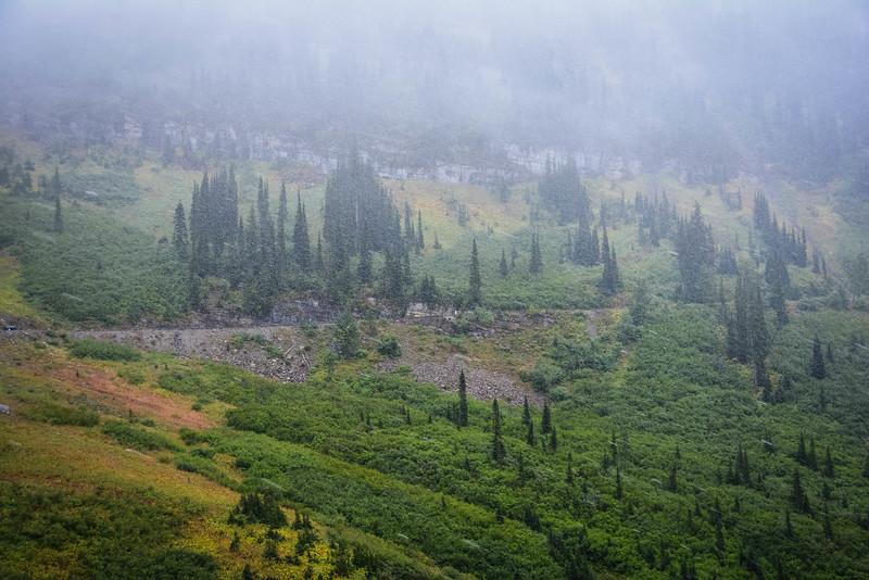 glacier national park overlooks