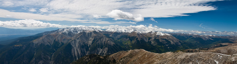 Panoramic view from the summit.