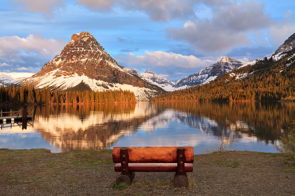 Rest in Peace<br /> <br /> Mount Sinopah, Glacier National Park, Montana, USA