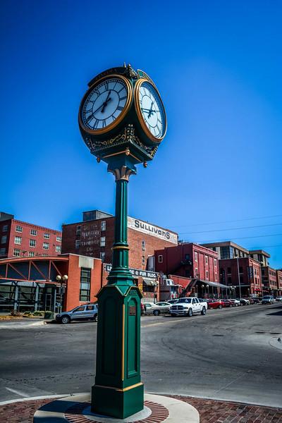 haymarket district clock lincoln nebraska