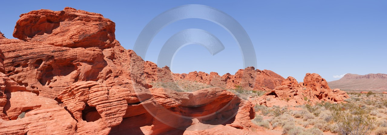 Valley Of Fire State Park Nevada Las Vegas Stock Image Fine Art Posters Color - 010814 - 25-09-2011 - 11900x4167 Pixel