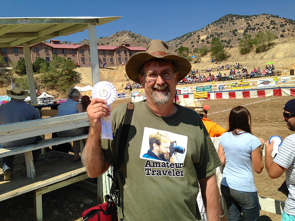 Chris at the Camel Races