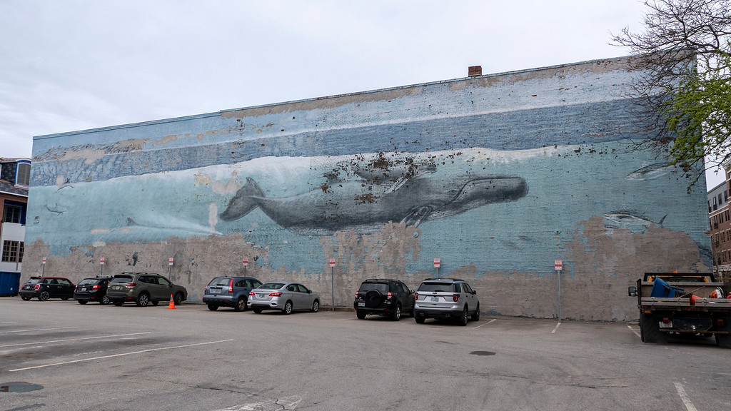 Whaling Wall mural in Portsmouth New Hampshire