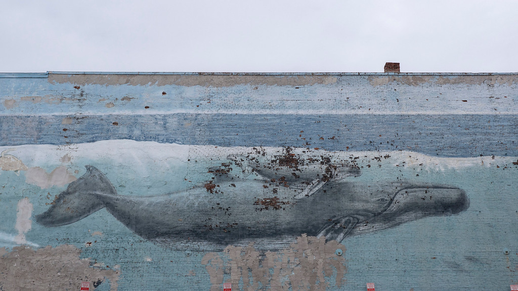 Whaling Wall street art in Portsmouth New Hampshire - Downtown Portsmouth NH