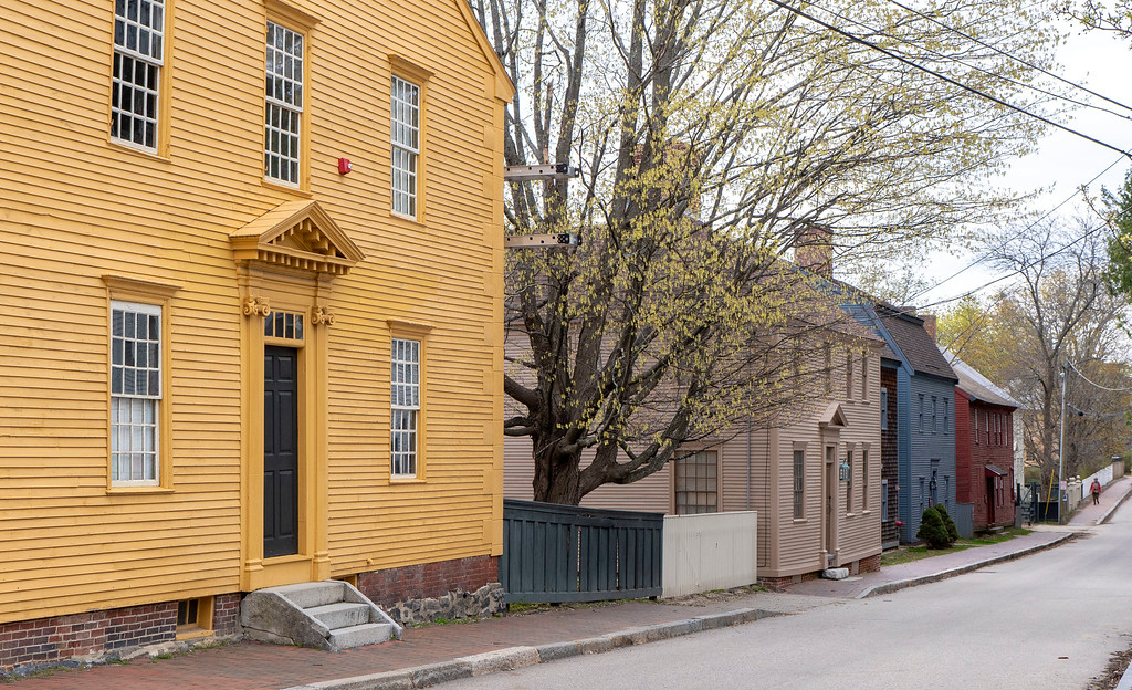 Colorful rows of homes in Portsmouth, New Hampshire