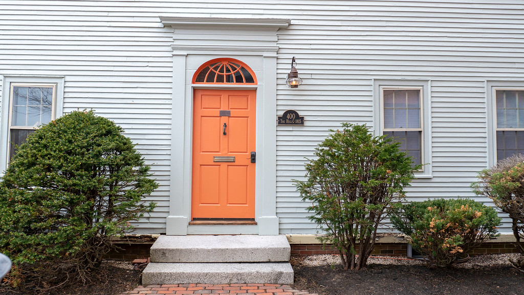 Colorful doors in Portsmouth New Hampshire