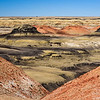 Colorful badlands