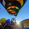 Balloon lifts off at sunrise