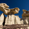Sculptured rocks at Bisti Badlands