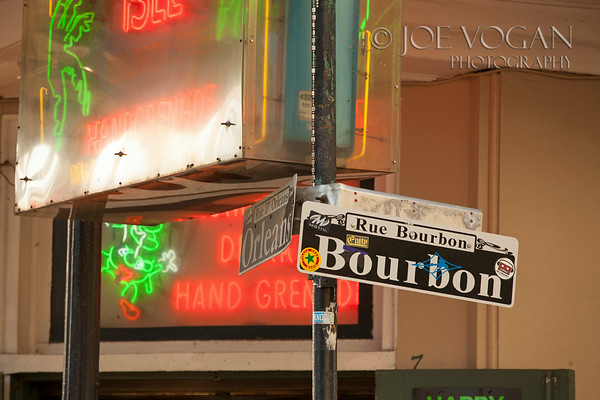 Bourbon Street Sign, French Quarter, New Orleans, Louisiana