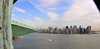 View of the Manhattan skyline from the head of the Statue of Liberty.