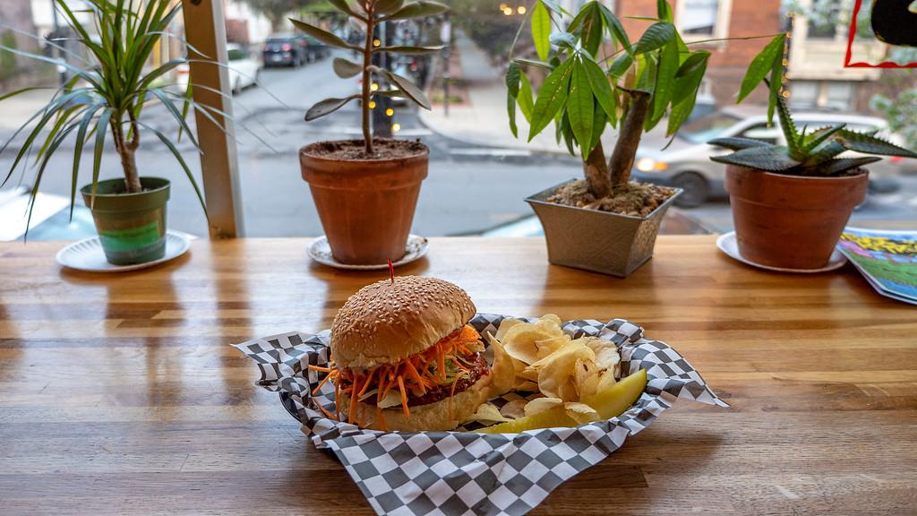 Berben & Wolff's vegan wing burger
