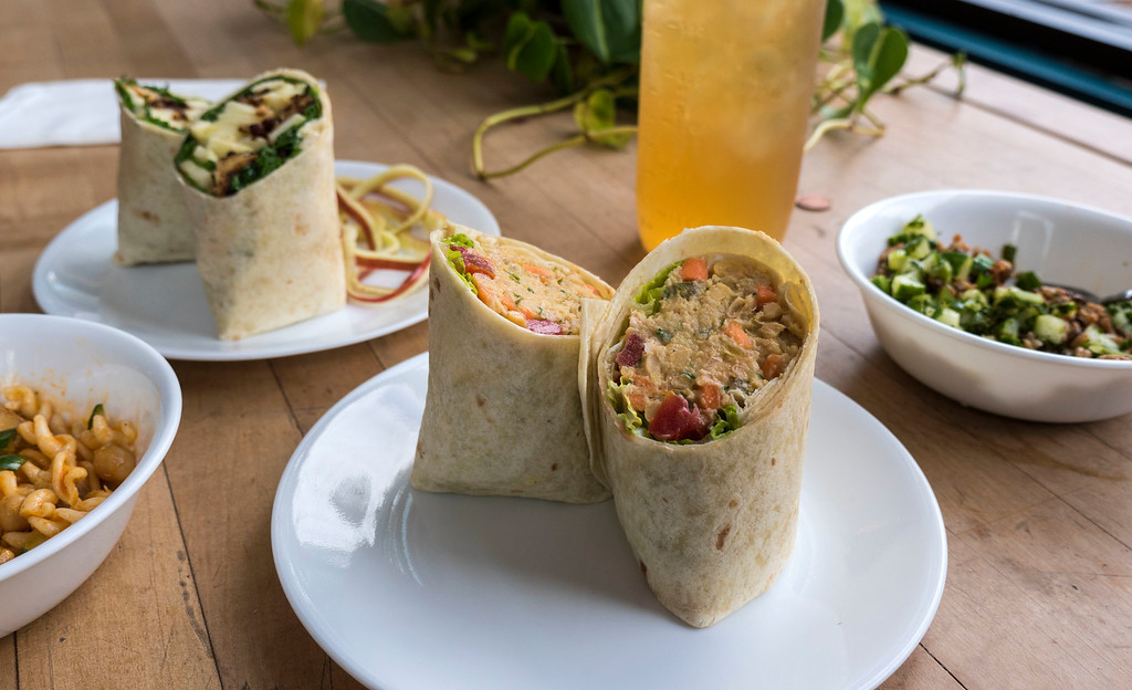 Grindhaus Cafe - Creature from the Beige Legume wrap