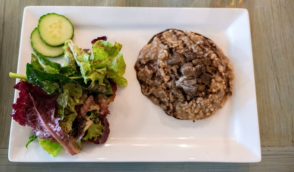 Dutchess County Restaurants: Mushroom Risotto at Harney & Sons Tea Room in Millerton NY