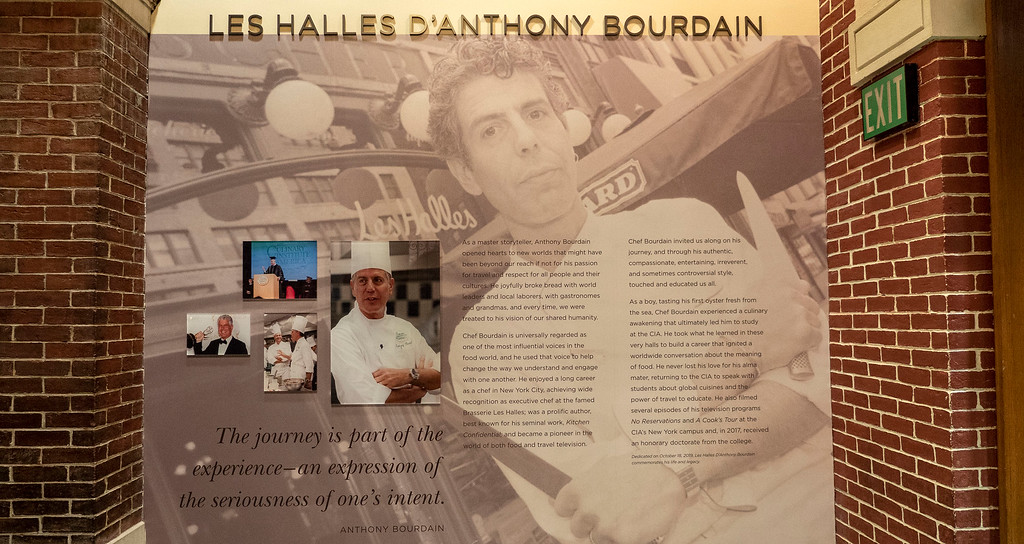 The Culinary Institute of America in Hyde Park New York - Anthony Bourdain hallway