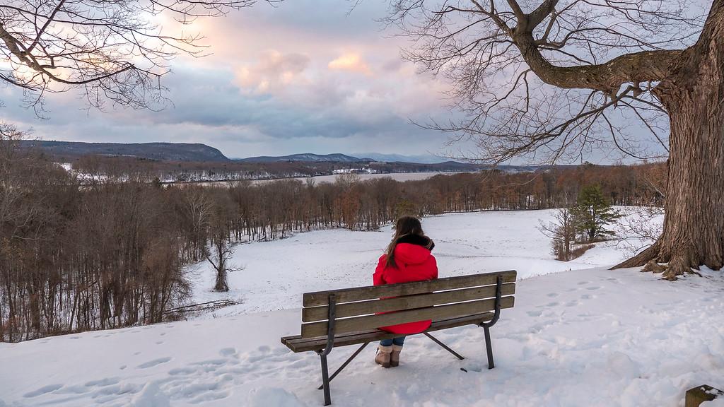 Vanderbilt overlook in the winter - Millionaire's View