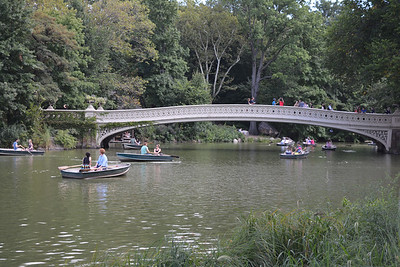 Bow Bridge crossing the Boating Lake