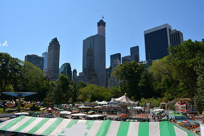 Overlooking New York City Skyline from Central Park 2
