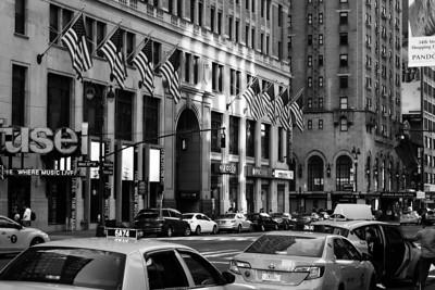 Walking along 8th Avenue in Downtown Manhattan