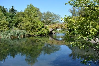 Gapstow Bridge on the lake