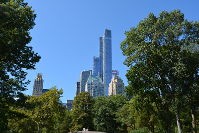 Overlooking New York City Skyline from Central Park
