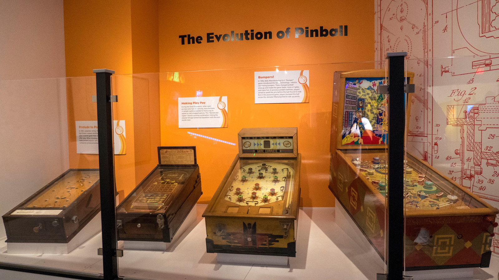 Early pinball machines at The Strong Museum of Play in Rochester, NY.