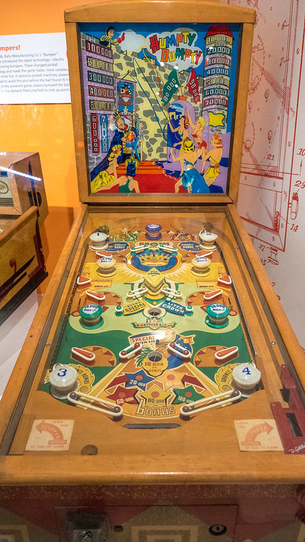 Humpty Dumpty pinball machine, The Strong Museum of Play.