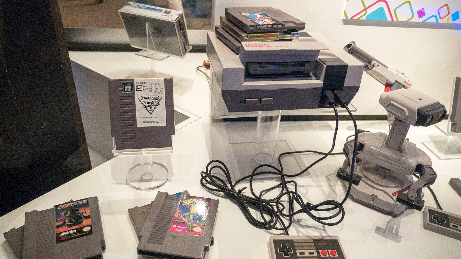 NES Nintendo Display, including the Nintendo World Championships cartridge. Why the Strong Museum is Thrilling for Video Game Lovers