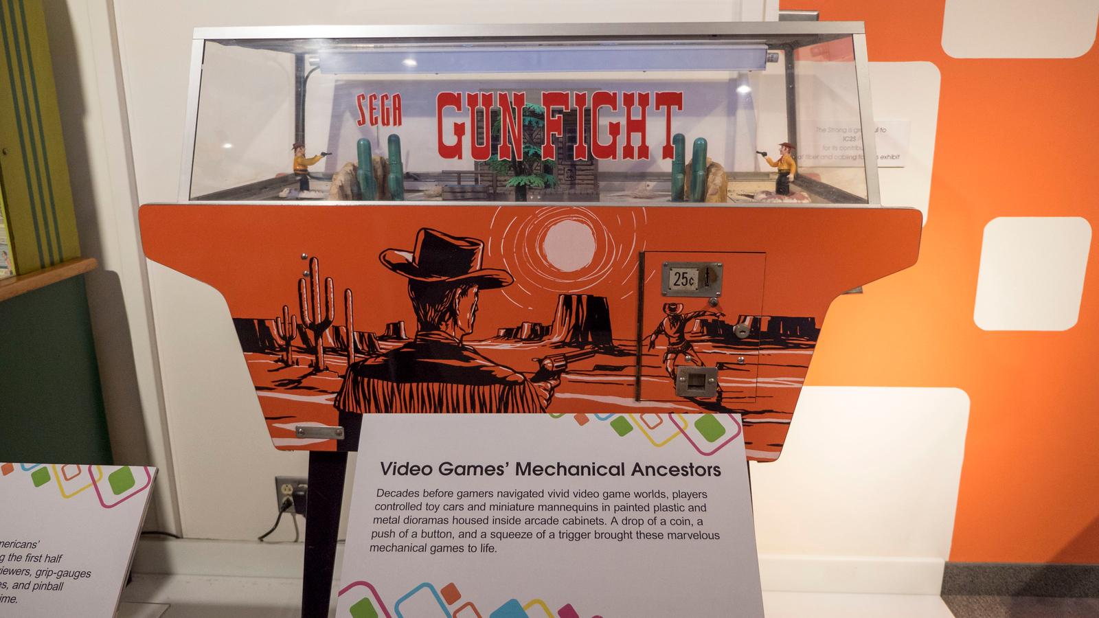 Sega Gun Fight game at eGameRevolution, The Strong Museum