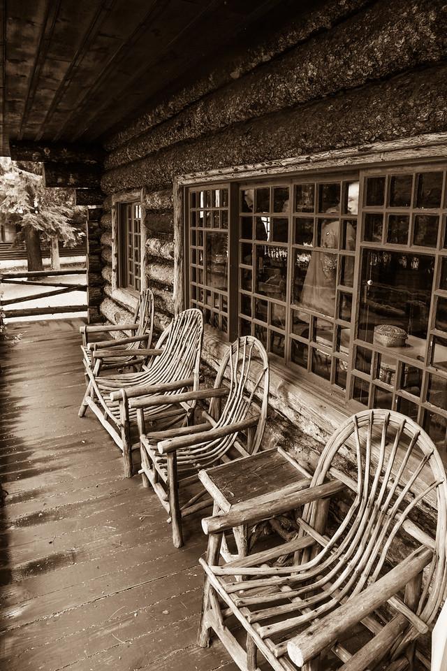 Porch Furniture, Camp Pine Knot