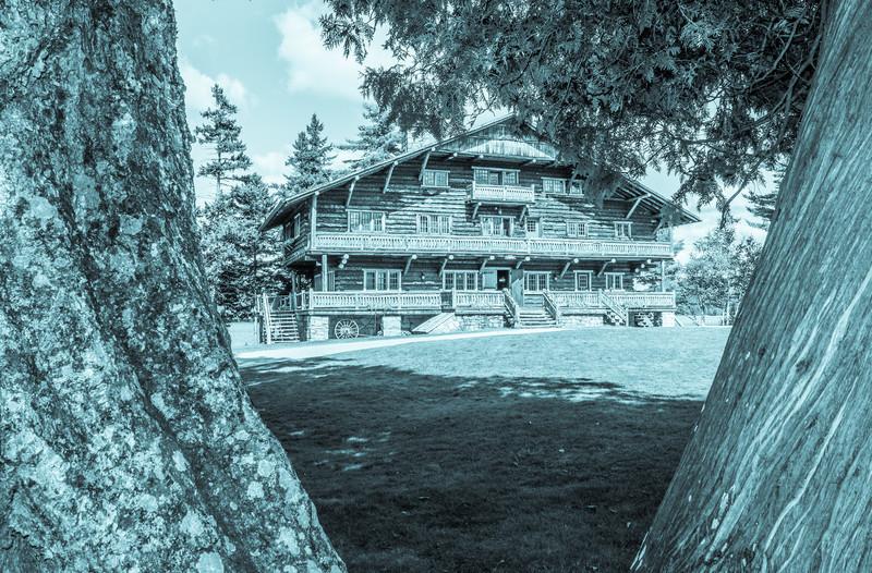 Great Camp Sagamore Cyanotype