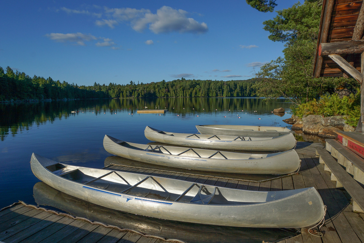Canoes At Sagamore Lake