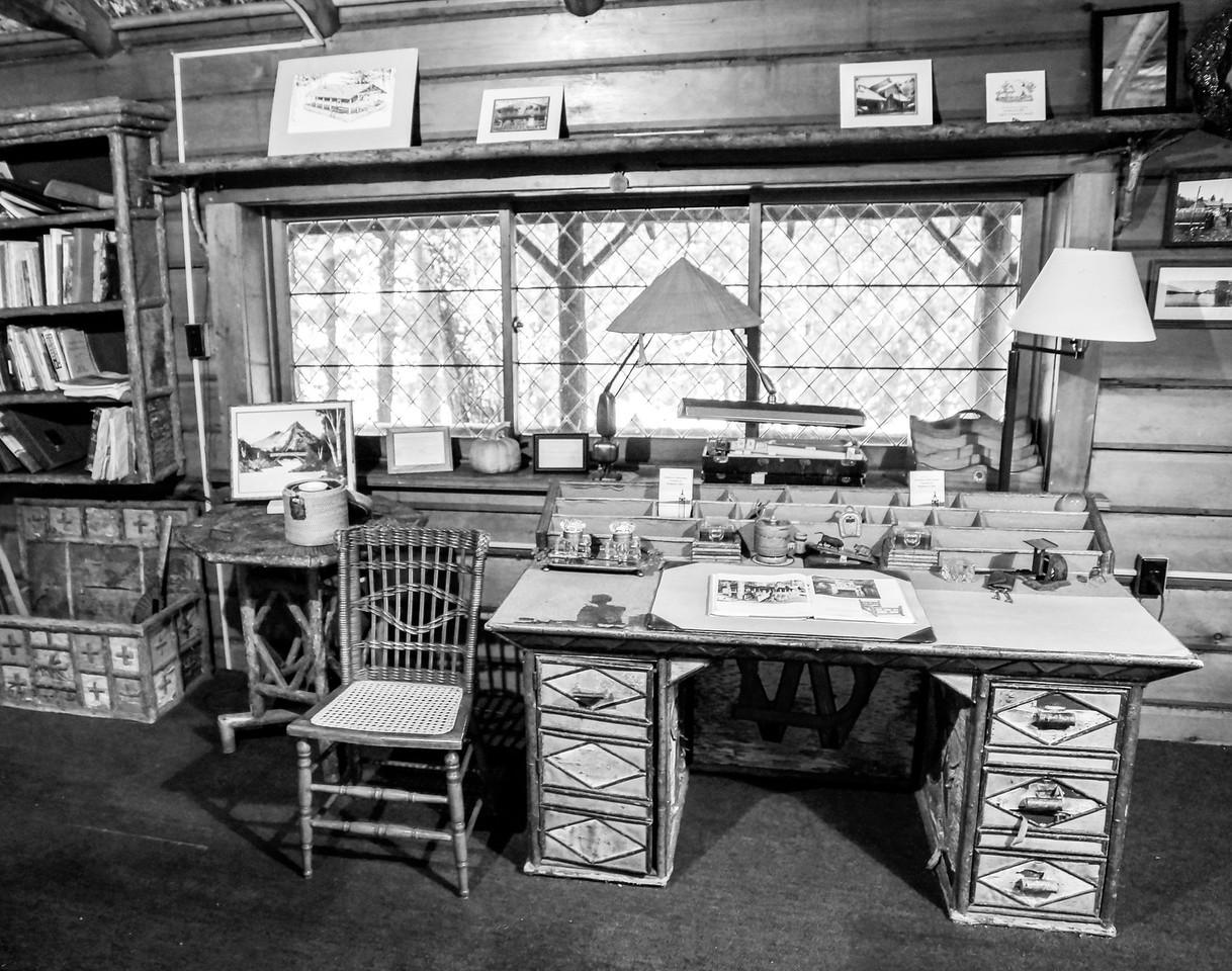 Birchbark Desk, Camp Pine Knot