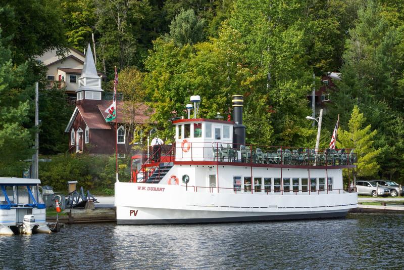 W.W. Durant Cruise Boat & Church, Raquette Lake