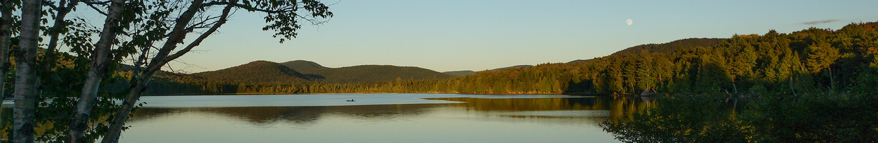Sagamore Lake Moonrise Panoramic
