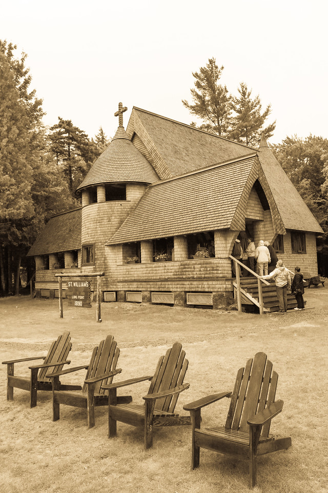 St. William's Church & Chairs, Long Point, Raquette Lake