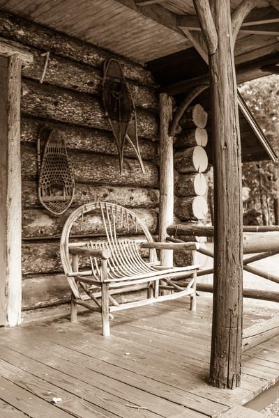 Porch & Snowshoes, Camp Pine Knot